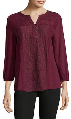 Style&Co. STYLE & CO. Lace Panel Blouse