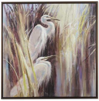 Madison Park Signature Seaside Egrets Hand-Embellished Framed Canvas Print