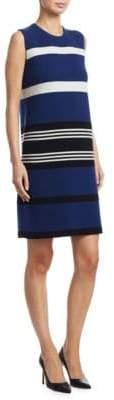 Akris Striped Reversible Cashmere Dress