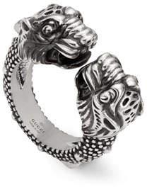 e5aea07e6 Gucci Men's Siamese Snake Tiger Head Ring