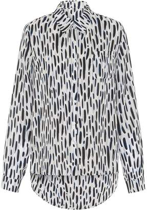 Abigail London - Silk Printed Ali Shirt with Backless Detail