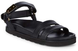 Giuseppe Zanotti Men's Leather Footbed Sandals