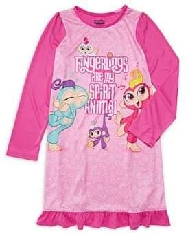 AME Sleepwear Little Girl's & Girl's Fingerlings Nightgown