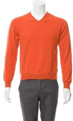 Louis Vuitton Cashmere V-Neck Sweater orange Cashmere V-Neck Sweater