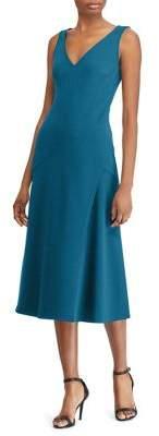 Lauren Ralph Lauren Stretch Crepe Midi Dress