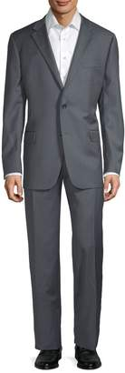 Hickey Freeman Classic Fit Pinstripe Wool Suit