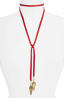 Women's Vanessa Mooney Leather Bolo Necklace $55 thestylecure.com