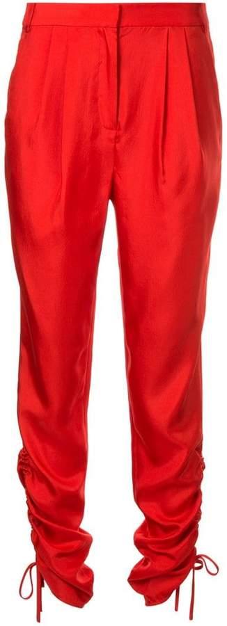 mendini twill shirred pants