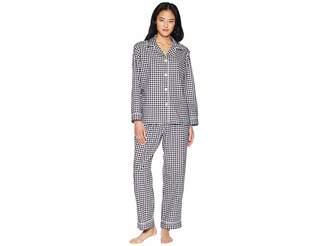 The Cat's Pajamas Gingham Luxe Pima Pajama Set