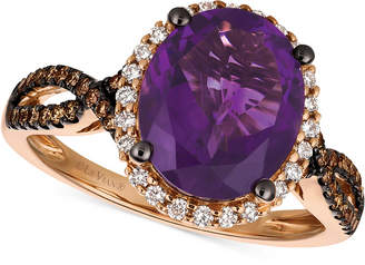 LeVian Le Vian Chocolatier Grape Amethyst (2-3/4 ct. t.w.) and Diamond (3/8 ct. t.w.) Ring in 14k Rose Gold