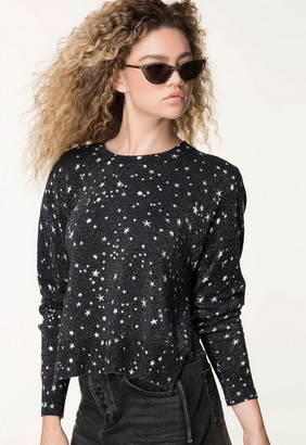 Singer22 DIPPER LOOSE SWEATER WITH STAR PRINT