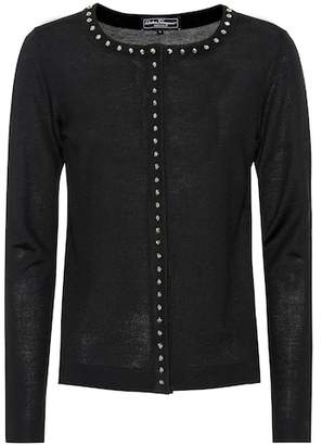Salvatore Ferragamo Embellished wool cardigan