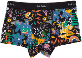Paul Smith Black Monster Print Low-Rise Boxer Briefs