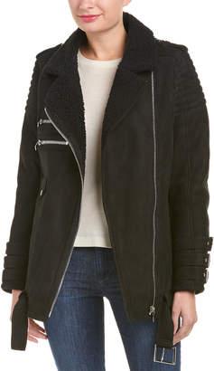Anine Bing Shearling Moto Jacket