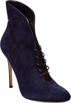 Gianvito Rossi Lace-Up Suede Bootie
