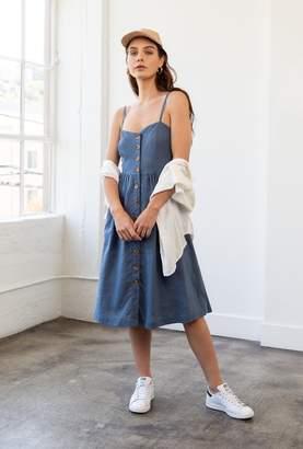 Azalea Sweetheart Button Midi Dress
