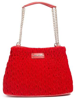 Love Moschino Gathered Velvet Shoulder Bag