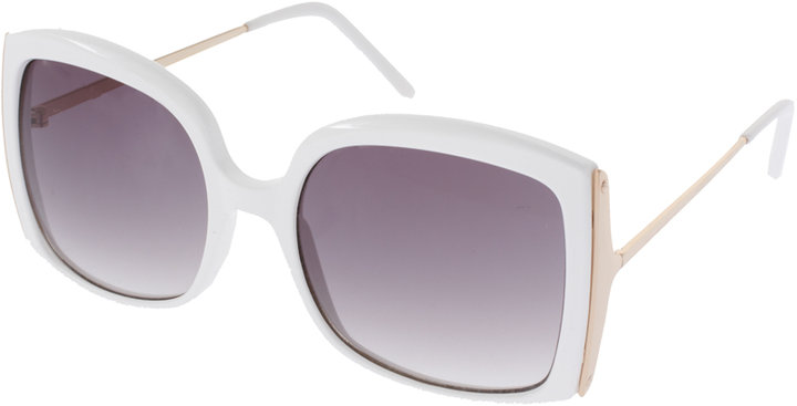 ASOS Oversized Square Sunglasses With Metal Detail