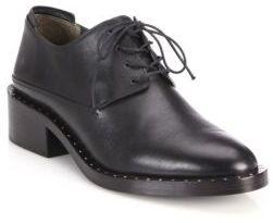 3.1 Phillip Lim Alexa Leather Block-Heel Oxfords $595 thestylecure.com