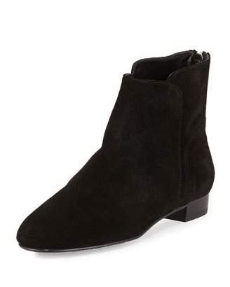 Delman Myth Suede Ankle Boot, Black $398 thestylecure.com