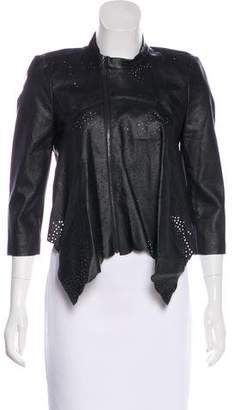 BCBGMAXAZRIA Perforated Cropped Jacket