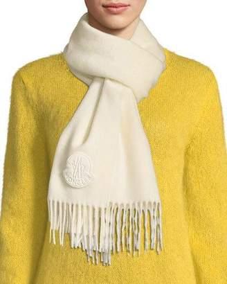 Moncler Sciarpa Wool Scarf w/ Fringe
