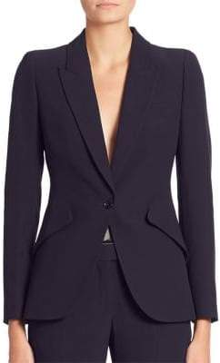 Alexander McQueen Solid One-Button Blazer