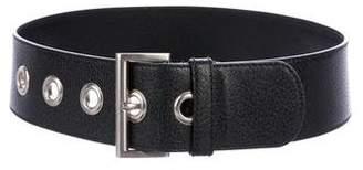 Prada Leather Buckle Wrap Belt