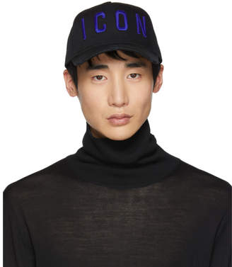 DSQUARED2 Black and Blue Icon Baseball Cap