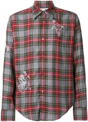 Stella McCartney tartan check embroidered shirt