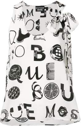Moschino Ornamental Letters blouse