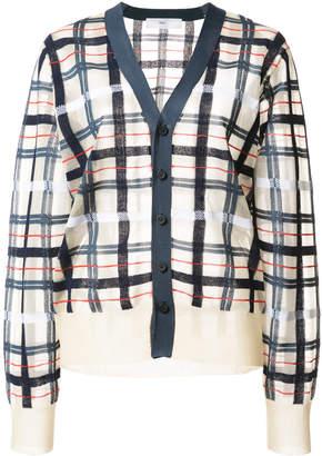 Toga checkered knit cardigan