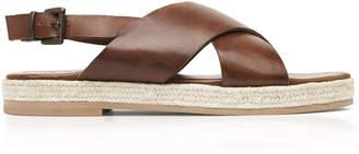 ST. AGNI Basque Leather Espadrille Sandals