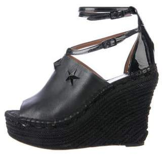 Givenchy Leather Star Wedges Black Leather Star Wedges