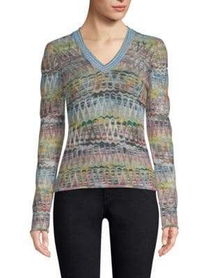 Missoni Embroidered Zig-Zag Sweater
