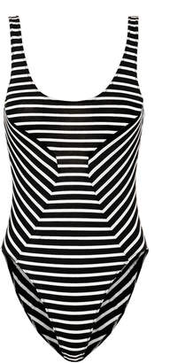 Fleur Du Mal New Scoop Striped Bodysuit