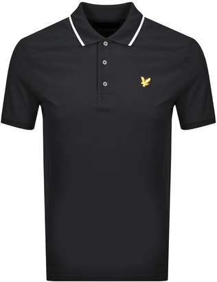 Lyle & Scott Short Sleeved Polo T Shirt Black