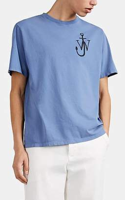 J.W.Anderson Men's Logo-Print Cotton T-Shirt - Blue