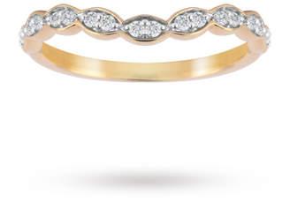 18ct Yellow Gold 0.15cttw Dip Band Ring
