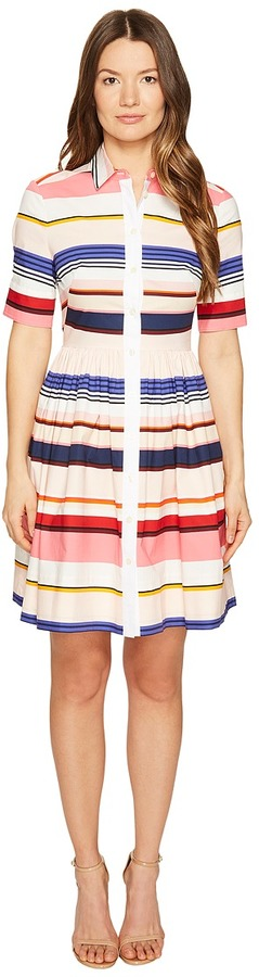 Kate Spade Kate Spade New York - Spice Things Up Berber Stripe Shirtdress Women's Dress