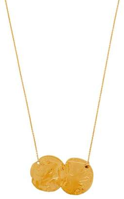 Alighieri - Dante And The Lion Gold Plate Coin Pendant - Womens - Gold