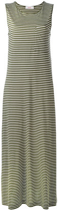 Jucca striped maxi dress $173.16 thestylecure.com