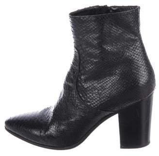 Saint Laurent Python Ankle Boots