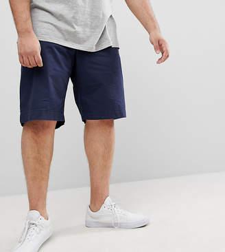 Tommy Hilfiger Big & Tall Brooklyn Straight Fit Chino Shorts Light Twill in Navy