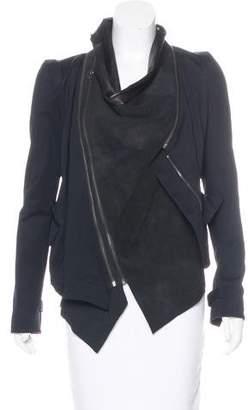 Elizabeth and James Leather Asymmetrical Jacket