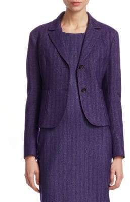 Akris Herringbone Short Jacket