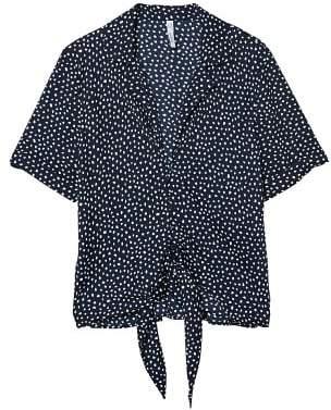 MANGO Knot detail printed blouse