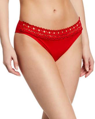 Lise Charmel Ajourage Couture Laser-Cut Low-Rise Swim Bikini Bottoms