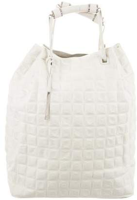 Calvin Klein Collection Geometric Leather Tote