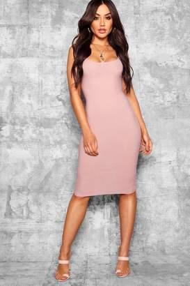boohoo Meg Longline Square Neck Midi Dress